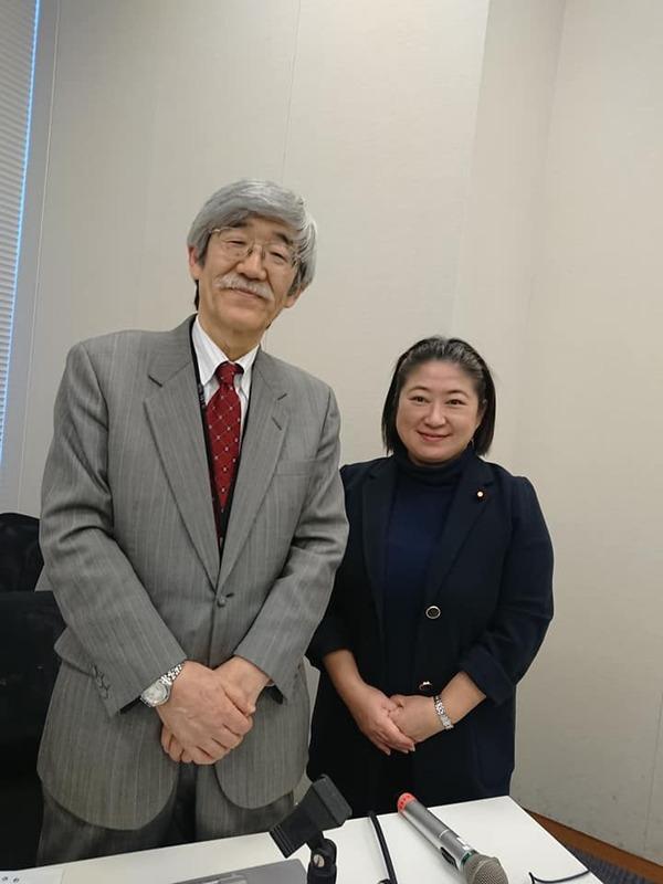 2月12日小宮山も呼びかけ人となり、佐藤衆介東北大学名誉教授を講師に ...