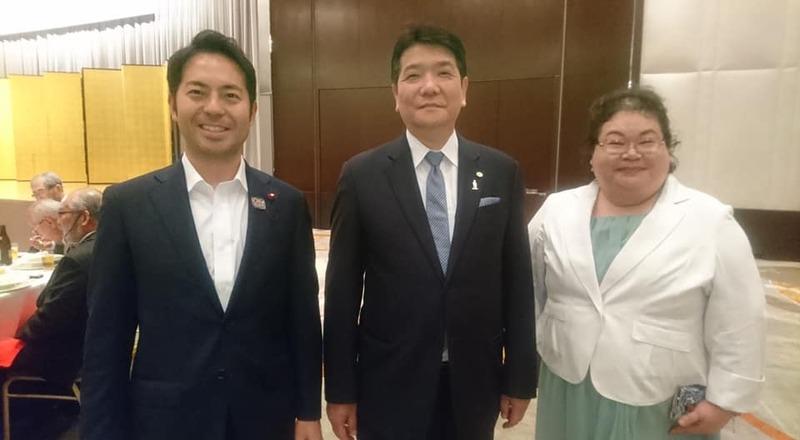 日本行政書士会会長の常住豊さんの事務所創立25周年記念式典・祝賀会に ...